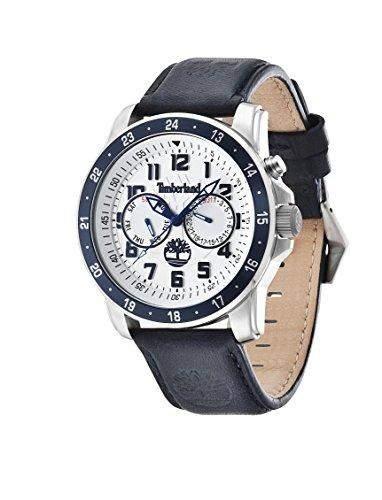 Timberland Herren-Armbanduhr XL Bellamy Multifunktion Analog Quarz Leder TBL14109JSTBL04