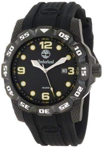 Timberland Watches 13317jsb02-Belknap Schwarz Gummi Herrenuhr Rubber