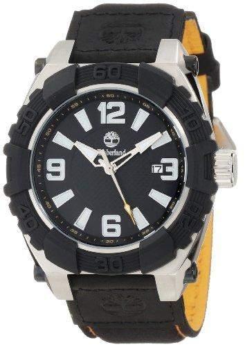 Timberland Watches 13321jstb02 B Hookset Mens Schwarz Echtes Leder Pad Und Nylon Armband Uhr Leather