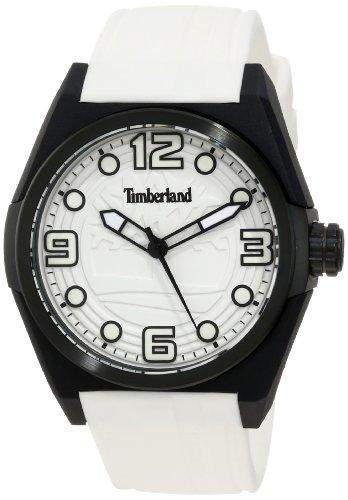 Timberland Watches 13328jpb01-Radler Mens Weiss Silikon-Armband-Uhr Silicon