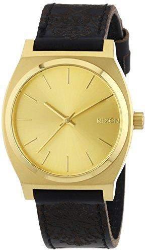 Nixon Herren-Armbanduhr Time Teller GoldOrnate Analog Quarz Leder A0451882-00