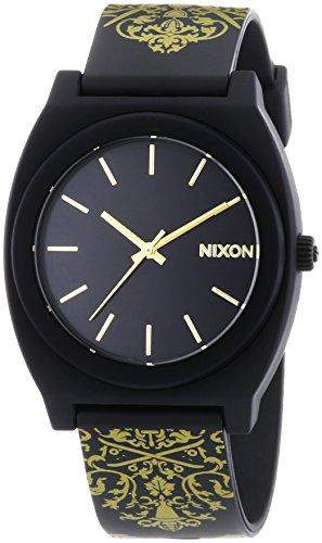 Nixon Herren-Armbanduhr XL Time Teller P Black Gold Ornate Analog Quarz Plastik A1191881-00