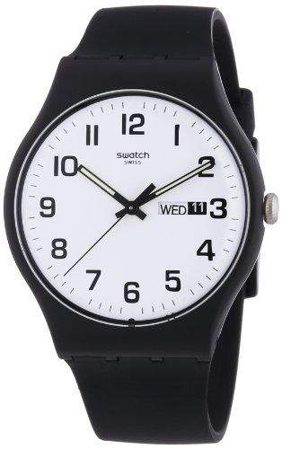 Swatch Herren-Armbanduhr XL Twice Again Analog Quarz Kautschuk SUOB705