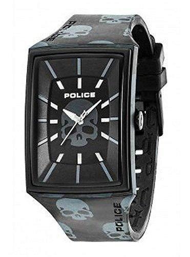 Police Herren-Armbanduhr XL Analog Quarz Silikon PL13077MPB02D
