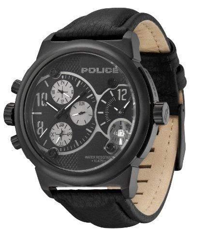 Police Herren-Armbanduhr XL Viper Analog Leder P12739JiSB-02