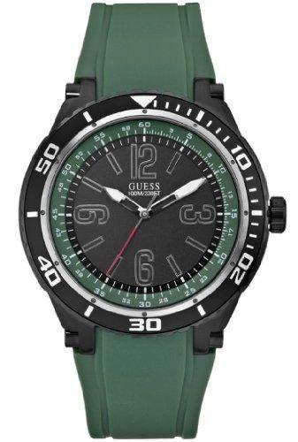 Guess Herren-Armbanduhr Marathon Analog Quarz Silikon W0044G6