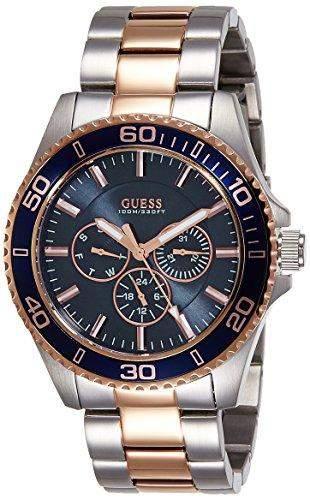 Guess Herren-Armbanduhr Analog Quarz Edelstahl W0172G3