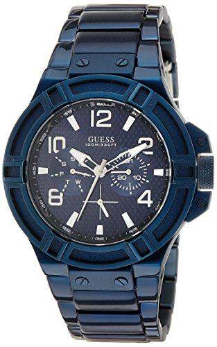 Guess Herren-Armbanduhr Analog Quarz Edelstahl W0218G4