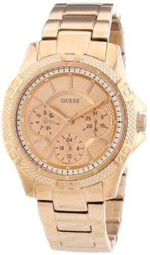 Guess Damen-Armbanduhr Analog Quarz Edelstahl W0235L3