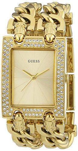 Guess Damen-Armbanduhr XS Analog Quarz Edelstahl beschichtet W0312L2