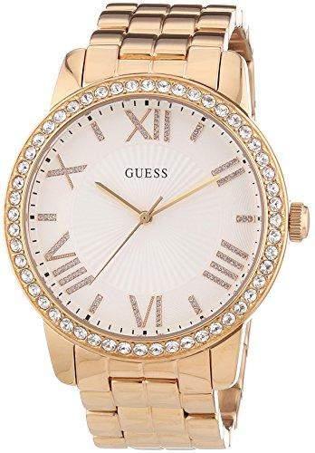 Guess Damen-Armbanduhr Analog Quarz Edelstahl W0329L3
