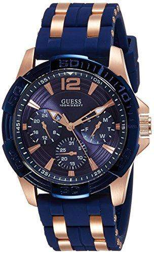 Guess Herren-Armbanduhr Analog Quarz Silikon W0366G4