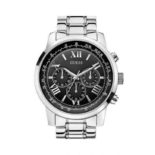 Guess Herren-Armbanduhr Analog Quarz Edelstahl W0379G1