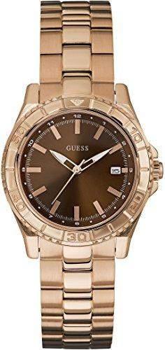 Guess Damen-Armbanduhr Analog Quarz Edelstahl W0469L1