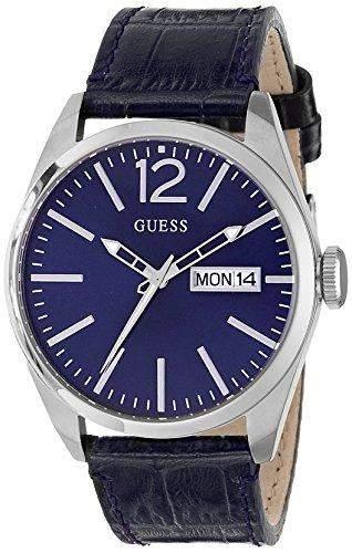 Guess Herren-Armbanduhr Analog Quarz Leder W0658G1