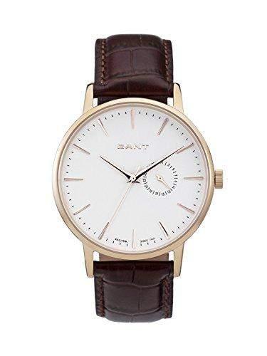 GANT Herren-Armbanduhr XL Analog Quarz Leder W10846