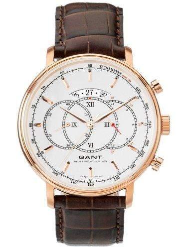 GANT Herren-Armbanduhr XL Analog Quarz Leder W10893