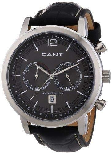 GANT Herren-Armbanduhr XL Analog Quarz Leder W10941