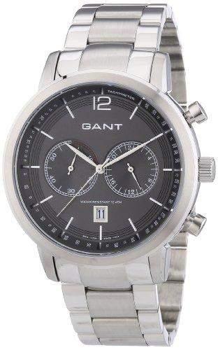 GANT Herren-Armbanduhr XL Analog Quarz Edelstahl W10943