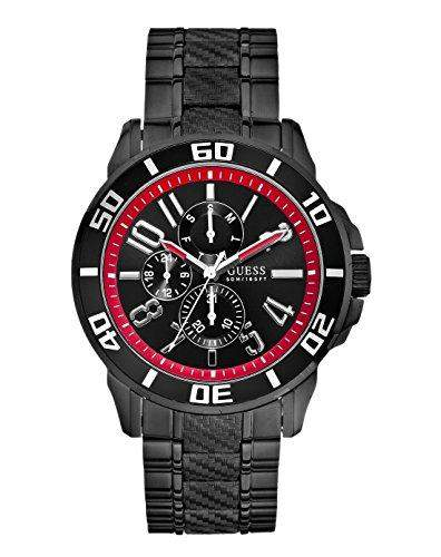 Guess Herren-Armbanduhr RACER Analog Quarz Edelstahl W18550G1