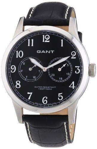 GANT Herren-Armbanduhr XL Analog Quarz Leder W70321