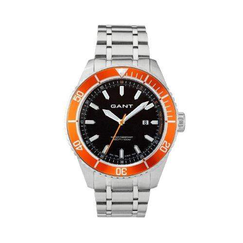 GANT Herren-Armbanduhr XL Analog Quarz Edelstahl W70392
