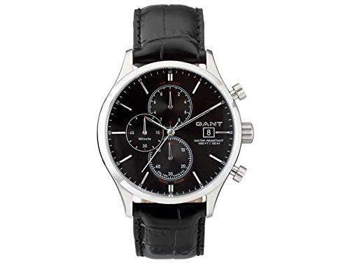 GANT Herren-Armbanduhr XL Analog Quarz Leder W70401