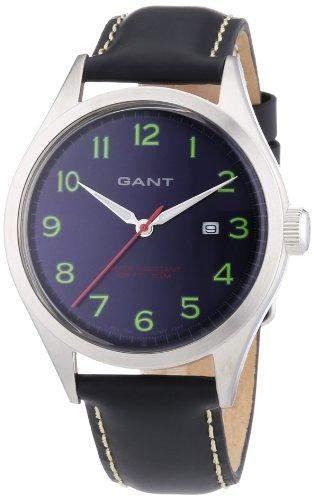 GANT Herren-Armbanduhr XL Analog Quarz Leder W70462