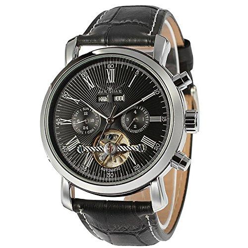 Gute Herren Schwarz Analog Steampunk Automatik Mechanik Armbanduhr Datum Tag