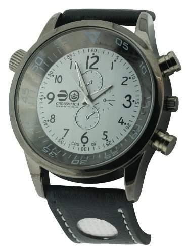 CROSSHATCH Herren-Armbanduhr Analog Kunststoff Schwarz CRS09A