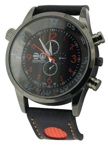 CROSSHATCH Herren-Armbanduhr Analog Kunststoff Schwarz CRS09C