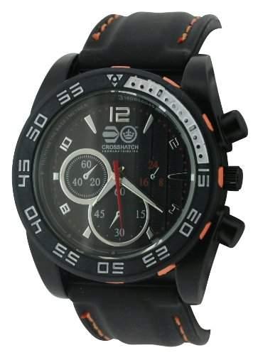 CROSSHATCH Herren-Armbanduhr Analog silikon schwarz CRS14B