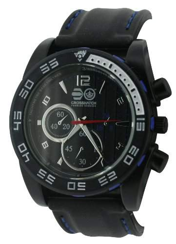 CROSSHATCH Herren-Armbanduhr Analog silikon schwarz CRS14D
