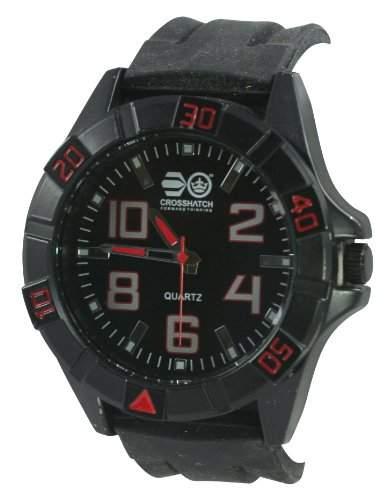 Crosshatch Herren-Armbanduhr Analog silikon schwarz CRS17A
