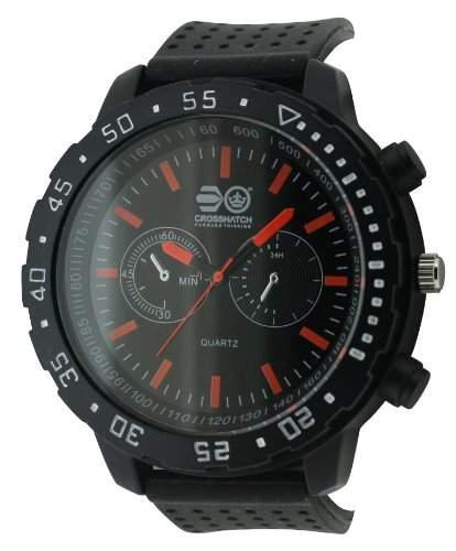 CROSSHATCH Herren-Armbanduhr Analog silikon schwarz CRS18D