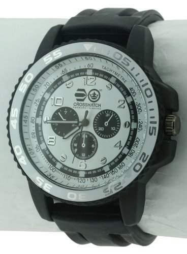 CROSSHATCH Herren-Armbanduhr Analog Silikon Schwarz CRS33A