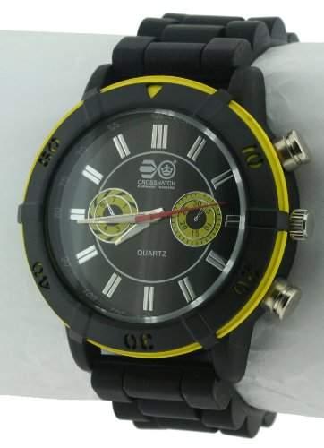 CROSSHATCH Herren-Armbanduhr Analog Silikon Schwarz CRS34B