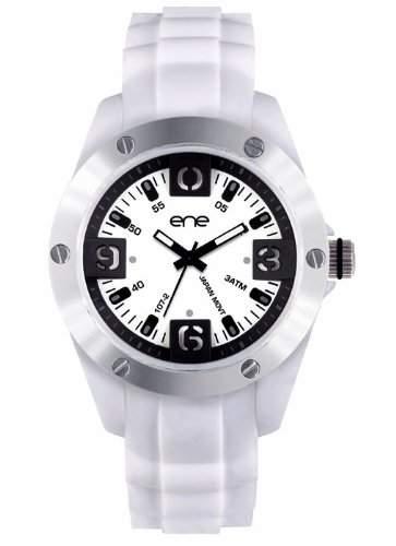 ene watch Mod 107-48 - Herrenuhr Armbanduhr Analoguhr mit Silikon Band ene-21755