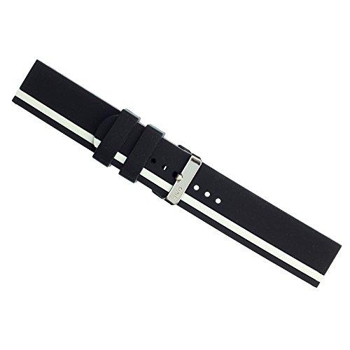 eneWatch Herren Wechsel Armband PU Armband schwarz weiss UEA11611