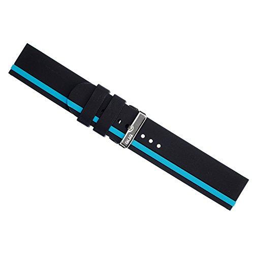 eneWatch Herren Wechsel Armband PU Armband schwarz blau UEA11613