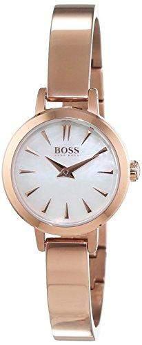 Hugo Boss Damen-Armbanduhr Slim Ultra Mini Analog Quarz Edelstahl beschichtet 1502367