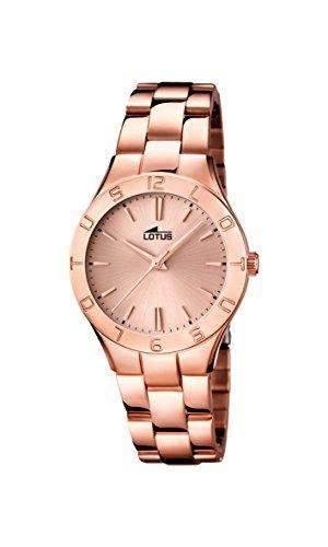Lotus Damen-Armbanduhr XS Analog Quarz Edelstahl beschichtet 158982