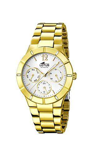 Lotus Damen-Armbanduhr Analog Quarz Edelstahl beschichtet 159141