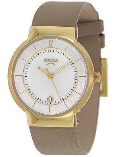 Boccia Damen-Armbanduhr Analog Quarz Leder 3123-11