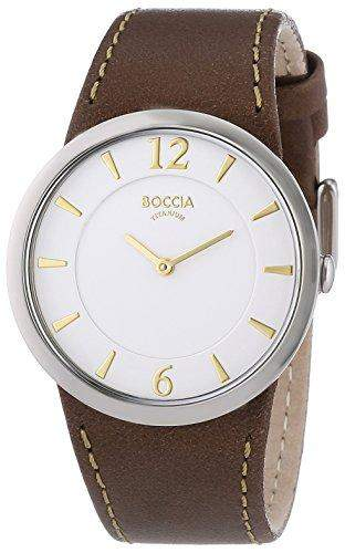 Boccia Damen-Armbanduhr Analog Quarz Leder 3161-09