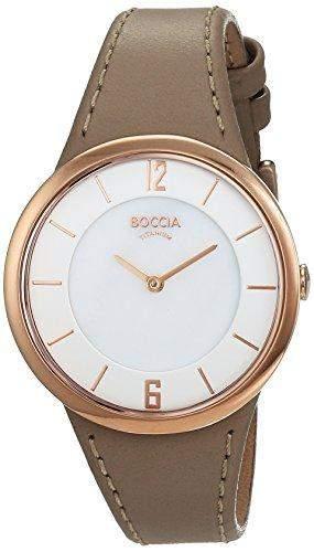 Boccia Damen-Armbanduhr Analog Quarz Leder 3161-15