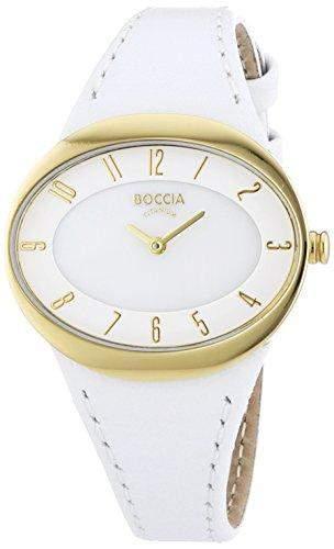 Boccia Damen-Armbanduhr Analog Quarz Leder 3165-19