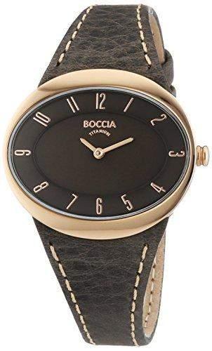 Boccia Damen-Armbanduhr Analog Quarz Leder 3165-20