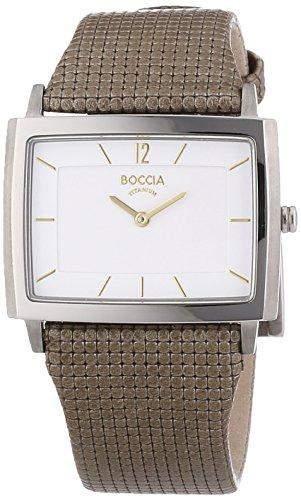 Boccia Damen-Armbanduhr XS Analog Quarz Leder 3203-02