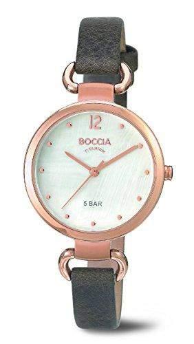 Boccia Damen-Armbanduhr XS Analog Quarz Leder 3232-05